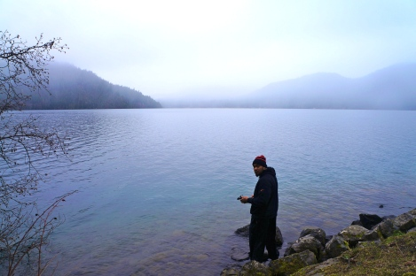 This was on a stop right before our hike. We were awed by the clarity of the lake.