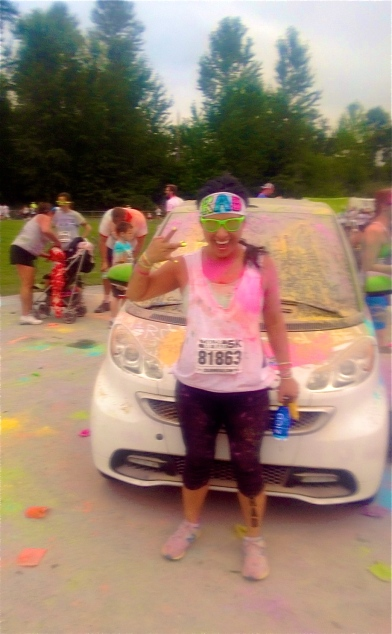 Color Me Rad. I'm not sure how much starch I swallowed that day! HAHA!