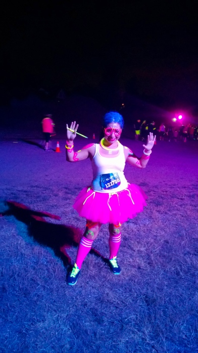 Electric Run in October.  As you can see, I haven't dared tried a marathon. These are all just in fun!