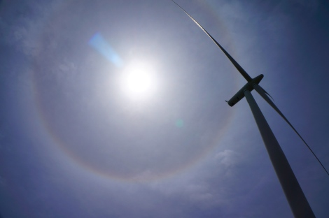 Never seen this before! A circular halo, or sun dog? We could see it all throughout the weekend. Amazing!