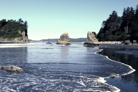 The next day we headed to Ruby Beach!