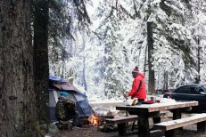 Verlot Campground, winter