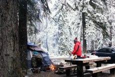 Verlot Campground, winter
