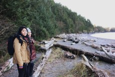 My two little sissies. And all that driftwood goodness!