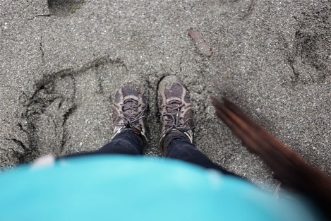 Muddy shoes. They are water repellent and kept my feet warm =)