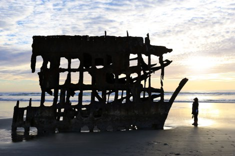 Peter Iredale ship wreck, oregon coast road trip