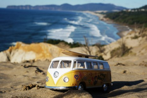 Oregon Coast, Cape Kiwanda, road trip, VW Bus