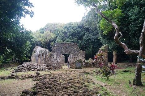 ruins, oahu, hawaii