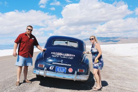 Bonneville Salt Flats, Utah, Auctions America, 1947 Packard Super Clipper 8 Sedan