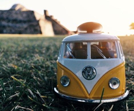 Xochicalco, Morelos, Mexico, VW Bus