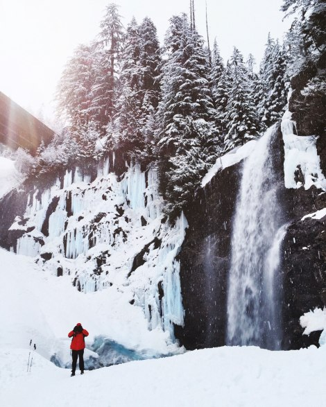 Franklin Falls, WA, winter, PNW