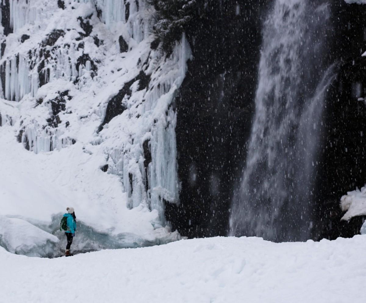 Franklin Falls, WA, winter, PNW