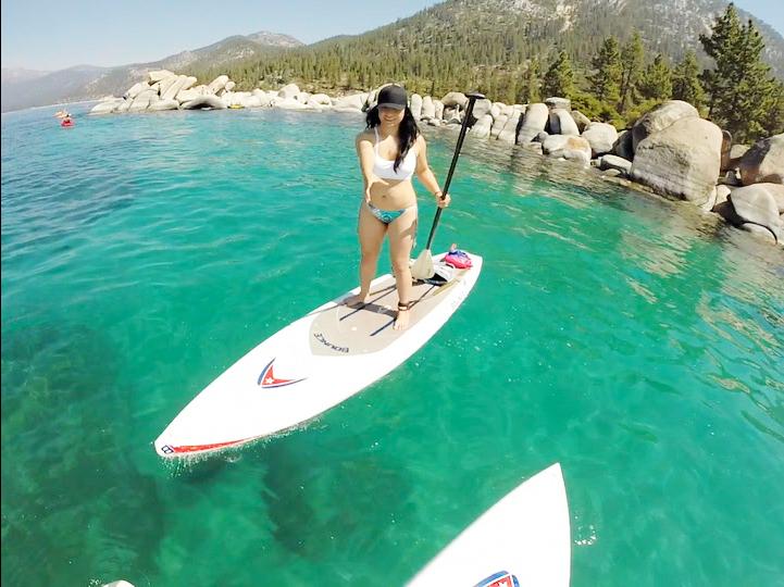 SUP, Lake Tahoe, California, OfWildestCAroadtrip