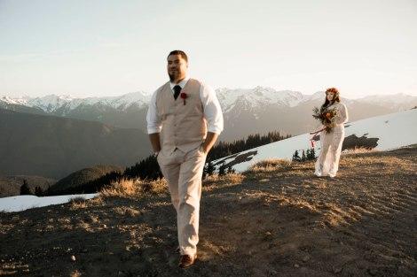 #OfWildestLove, Hurricane Ridge, Lake Crescent, Olympic National Park elopement