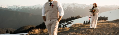 #OfWildestLove, Hurricane Ridge, Lake Crescent, Olympic National Park elopement