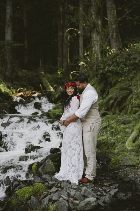 #OfWildestLove, Lake Crescent, Olympic National Park elopement
