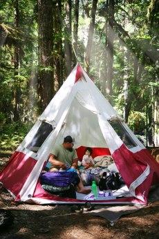 OfWildestLove, Babys First Camp, PNW