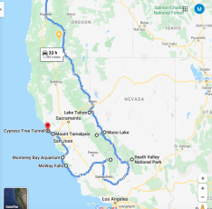 CA Roadtrip Itinerary