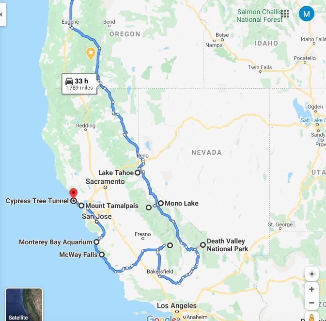 CA Roadtrip Itinerary